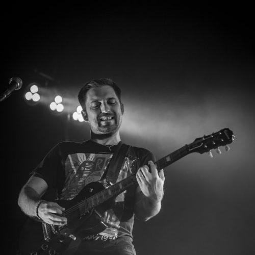 Guitariste en action