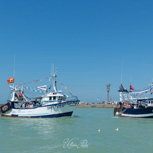 Bateaux pavoisés pendant la Fête de la mer