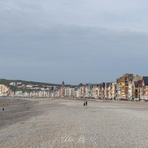 La plage et les villas du front de mer