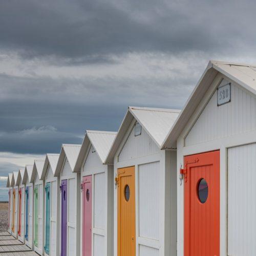 Cabines de plage colorées